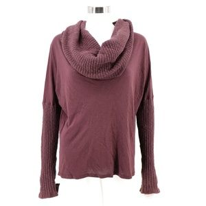 Michael Stars Cowl Neck Burnout Tunic Top Sweater